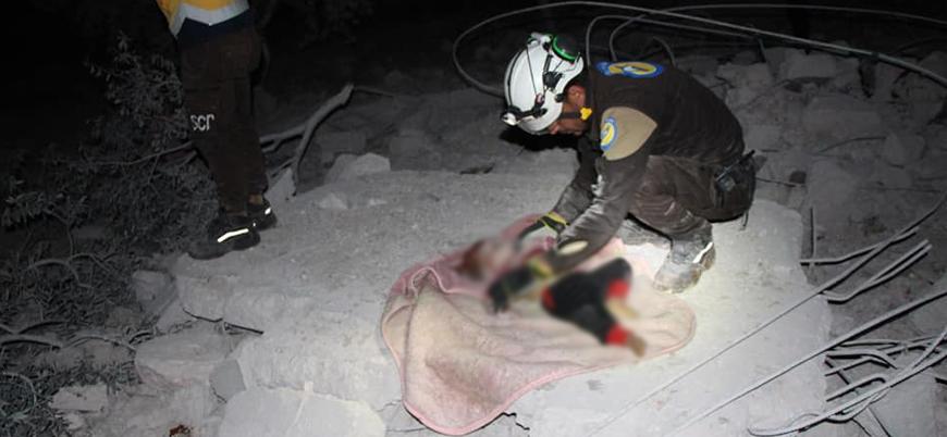 Rusya İdlib'de sivilleri vuruyor: İkisi çocuk 4 ölü