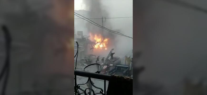Suriye'de Esed rejimi savaş uçakları iftar vaktinde pazar yerini vurdu