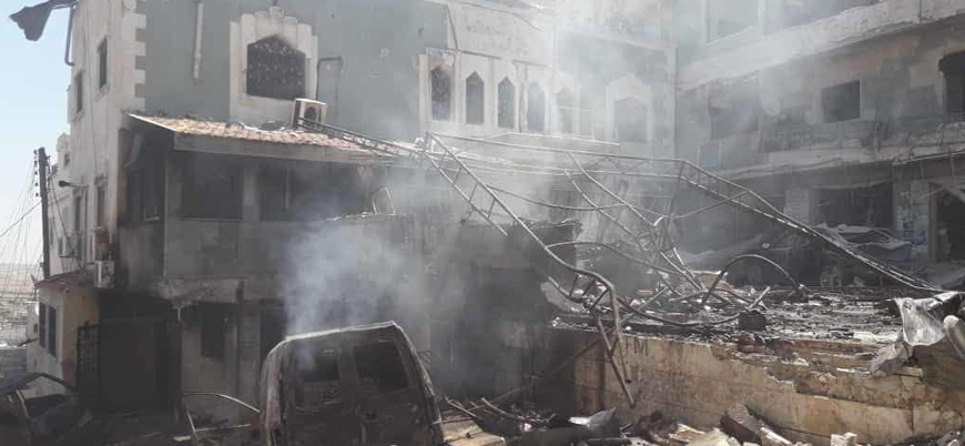Rusya İdlib'de hastaneleri vurmayı sürdürüyor