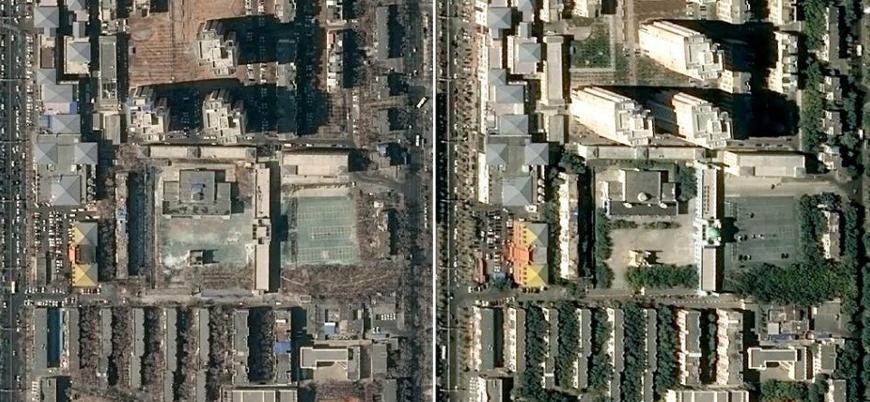 Çin'in Doğu Türkistan'da yıktığı camiler uydu görüntülerinde