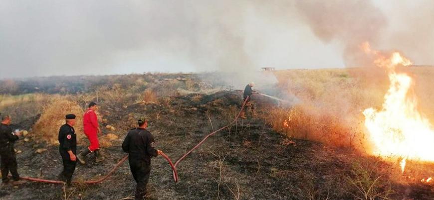 Musul'da tarım alanları yanıyor: Ordudan seferberlik çağrısı