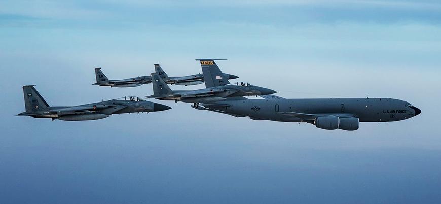 Suudi Arabistan ve ABD savaş uçakları Basra Körfezi'nde uçtu