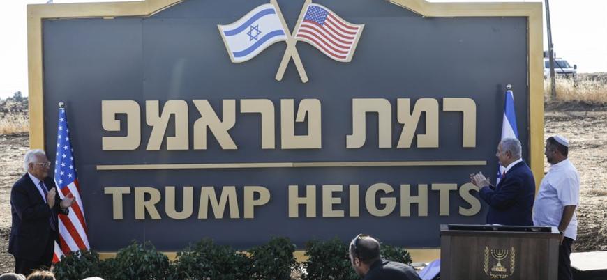 Netanyahu Golan'daki bir yerleşim yerine 'Trump Tepeleri' adını verdi