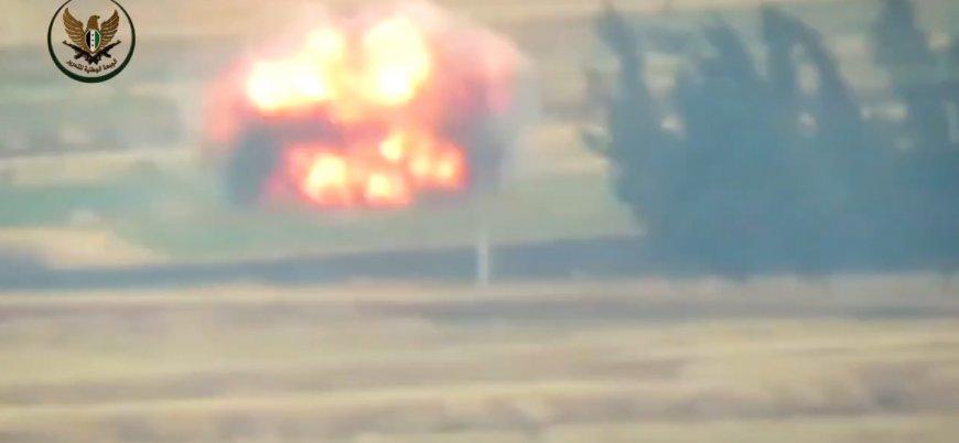 Muhalifler Esed rejimine ait aracı güdümlü füzeyle vurdu