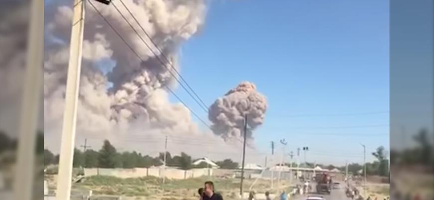 Kazakistan'daki silah deposunda peş peşe patlamalar