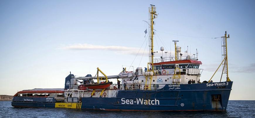40 göçmenle bekletilen mülteci gemisi İtalya limanına izinsiz olarak girdi