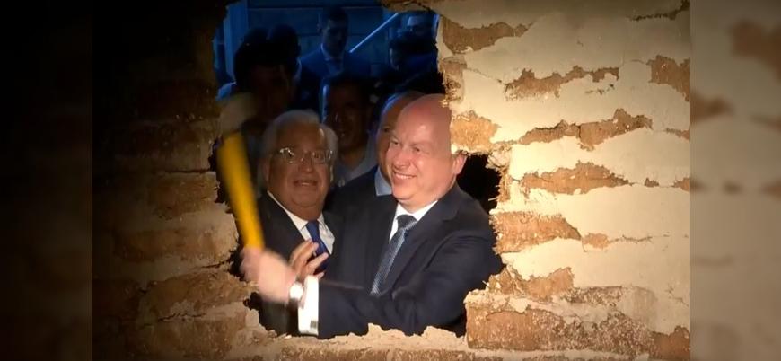 ABD'nin İsrail Büyükelçisi Mescid-i Aksa'ya çıkan tünelin açılış törenine katıldı