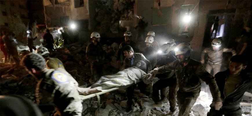 Rus uçakları gece yarısı Cisr eş Şuğur'da sivilleri vurdu