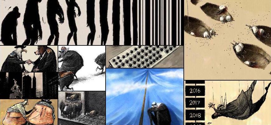 Amjad Rasmi'den 'güçlü karikatürler': Arap sokağı ve Ortadoğu