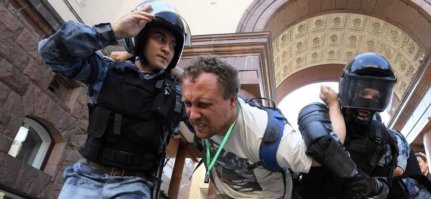 Moskova'da protestolar: 500'den fazla gözaltı