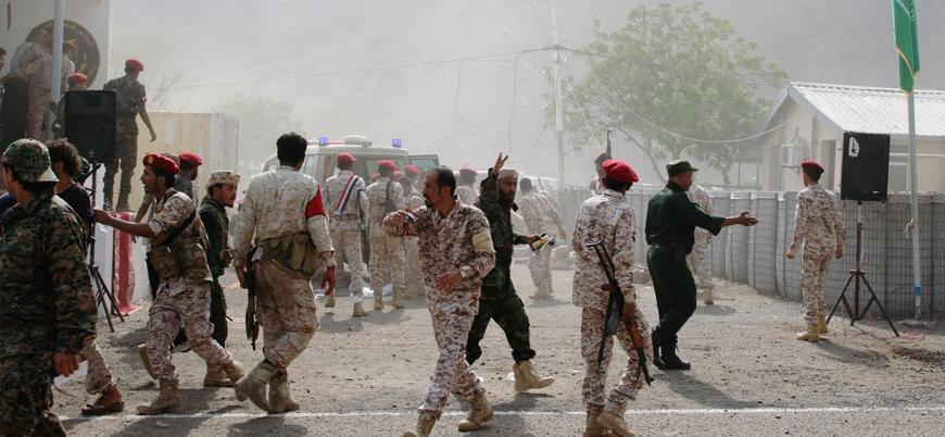 Husiler Yemen'de askeri töreni İHA'larla vurdu: 32 ölü