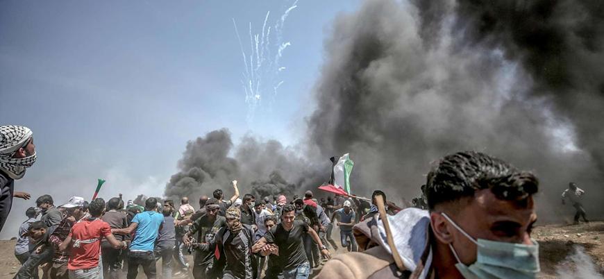 İsrail'den Filistinli göstericilere müdahale: 49 yaralı