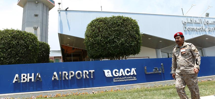 İran destekli Husilerden Suudi Arabistan güneyinde havalimanına hava saldırısı