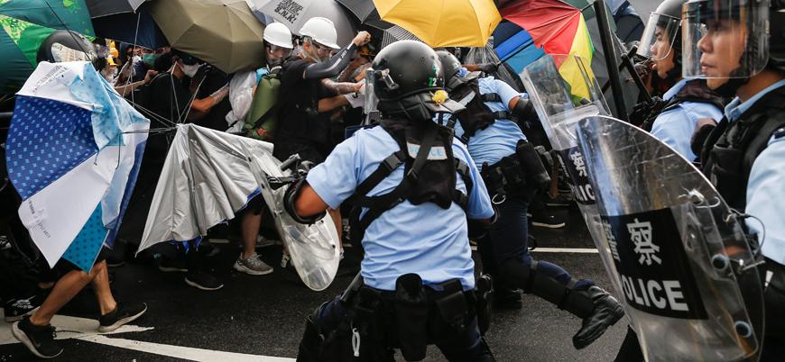Çin'den 'tehlikeli açıklama': Hong Kong gösterileri terörizmdir