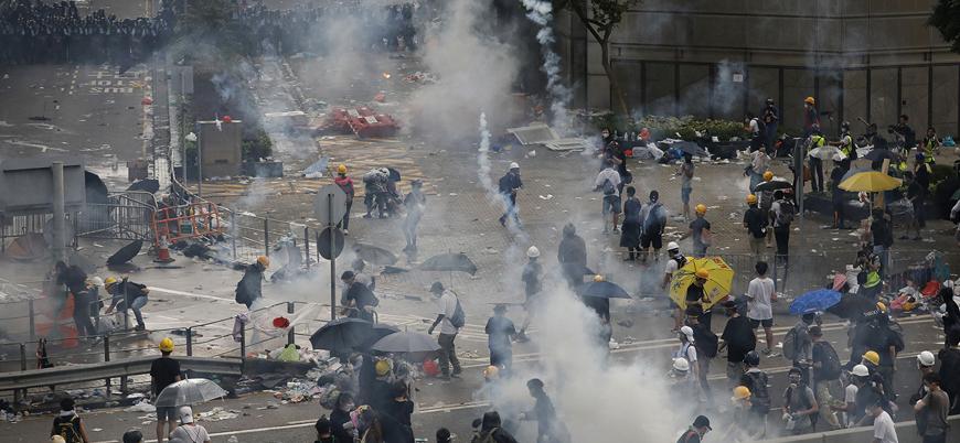 Çin'den Hong Kong gösterilerine müdahale tehdidi