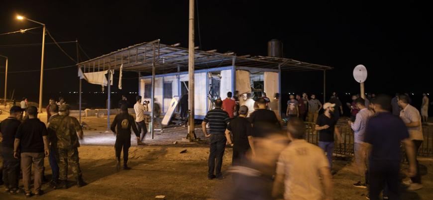 Gazze'de iki ayrı polis noktasına bombalı saldırı
