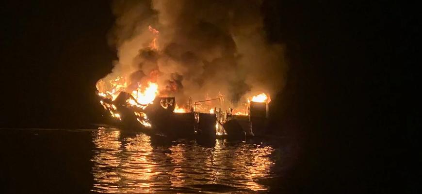 ABD'deki tekne yangınında en az 25 kişi öldü