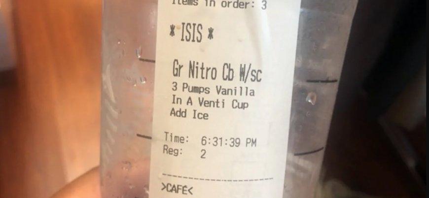 Starbucks bardağına ismini 'IŞİD' diye yazdılar