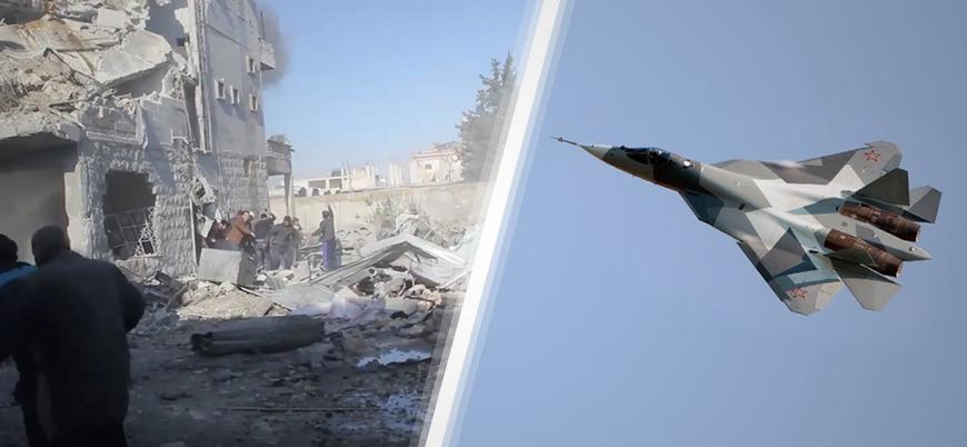 Rusya, Türkiye'nin de almayı düşündüğü Su-57'leri Suriye'de denemeye başladı
