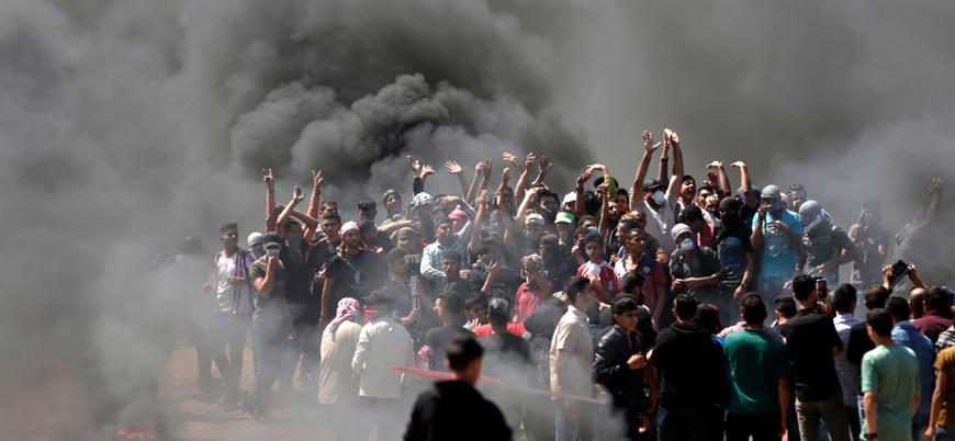 İsrail Gazze'de Filistinlilere ateş açtı: 2 ölü 76 yaralı