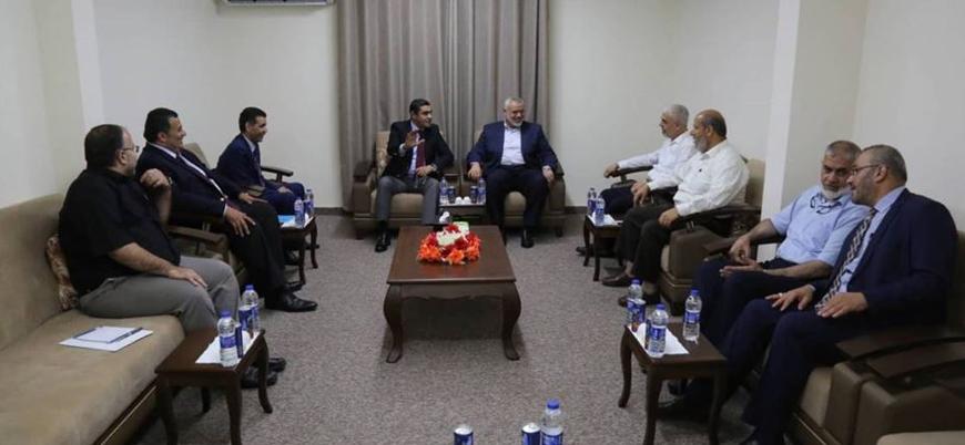 İsmail Heniyye liderliğindeki Hamas yönetimi Mısır heyetiyle görüştü