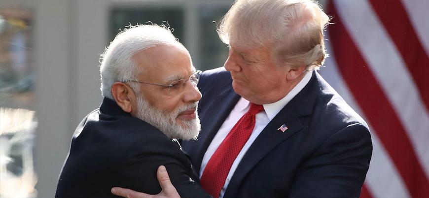 ABD Başkanı Trump Hindistan Başbakanı Modi ile görüştü