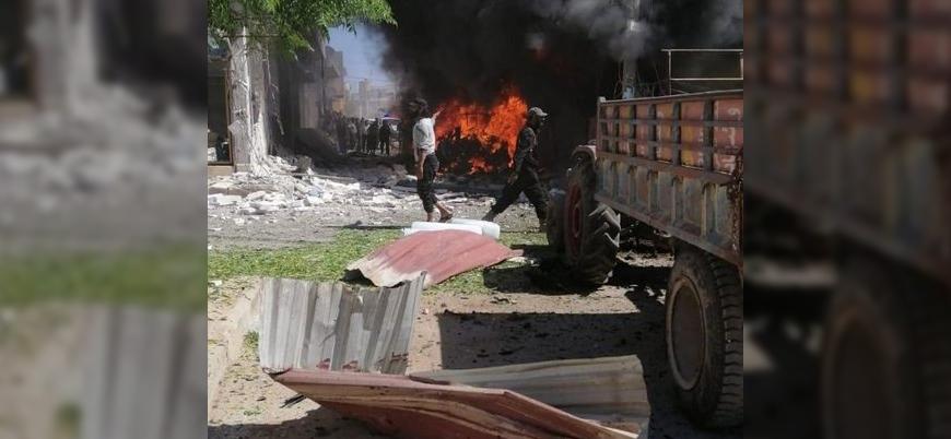 Afrin'in Cinderes kentinde bombalı araç saldırısı
