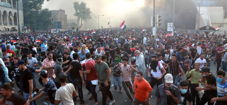 Irak'ta halk sokaklarda: Yüzlerce yaralı var
