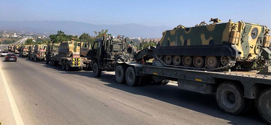 Suriye sınırına zırhlı iş makinesi takviyesi