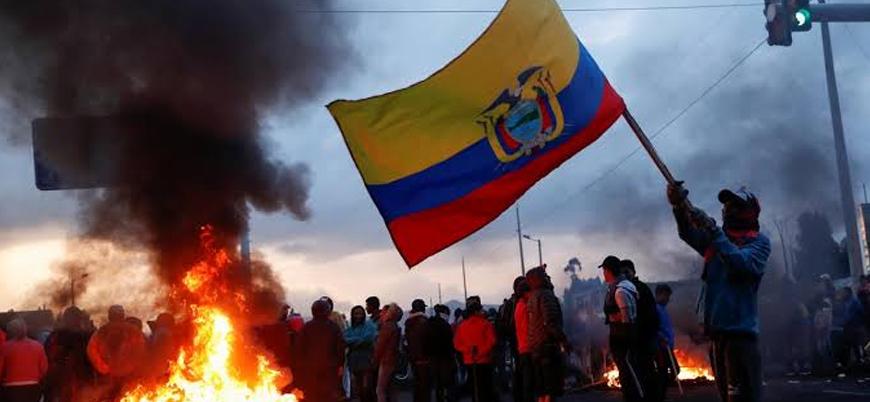 Ekvador'da kemer sıkma politikalarına karşı gösteriler devam ediyor