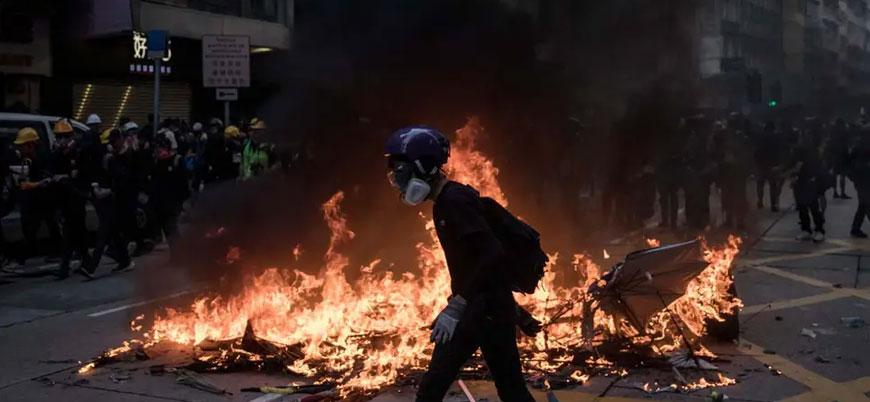 """Çin ordusu Hong Kong'a müdahale edebilir"""