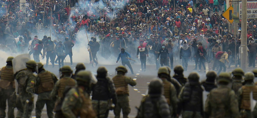 Ekvador'da protestolar sürüyor: Ordu göreve çağrıldı