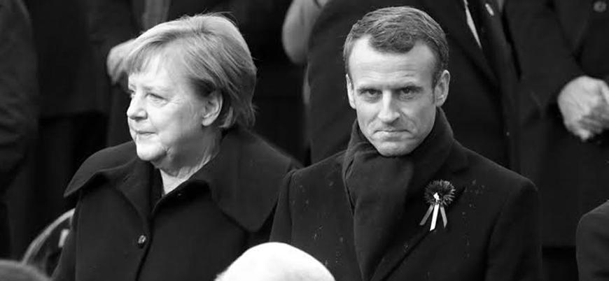 Merkel ve Macron'dan Barış Pınarı Harekatı'nı durdurma çağrısı