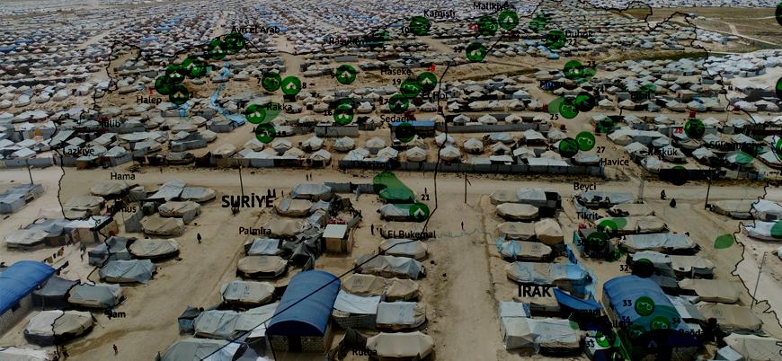Harita | Suriye ve Irak'ta IŞİD mensuplarının tutulduğu merkezler