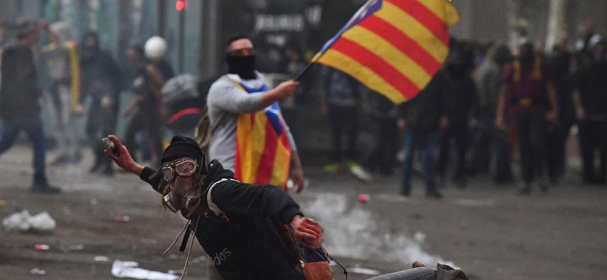 İspanya'da Katalonya protestolarında tansiyon yükseliyor