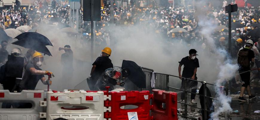 ABD'den Çin karşıtı Hong Konglu göstericilere destek