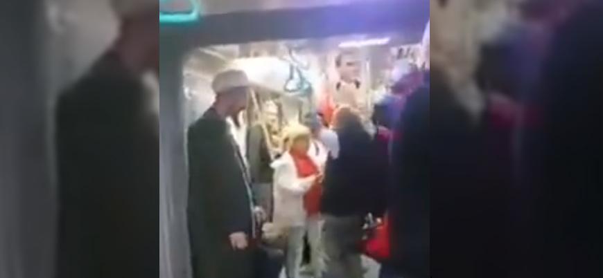 Kemalist göstericiler toplu taşımada Müslüman genci taciz etti