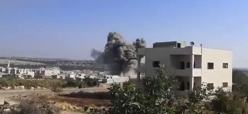 Rusya İdlib'de sivilleri vurdu: Bir baba ve kızı hayatını kaybetti