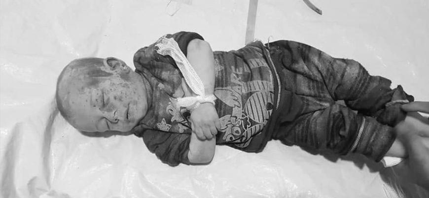 Rusya İdlib'de bir anne ve bebeğini katletti
