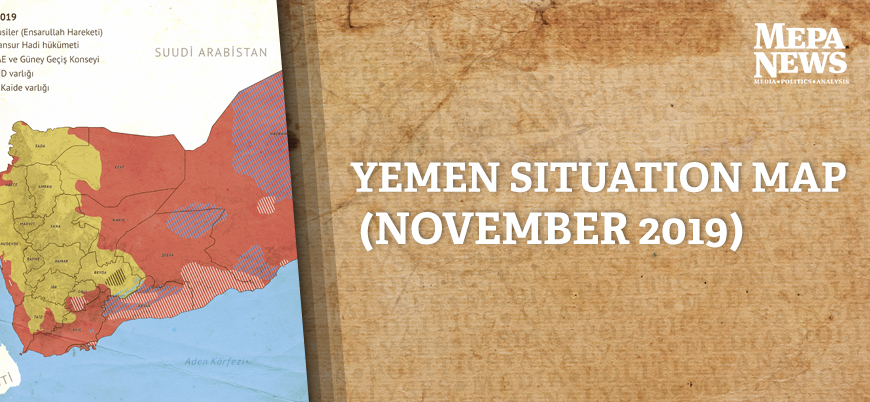 Yemen situation map (November 2019)