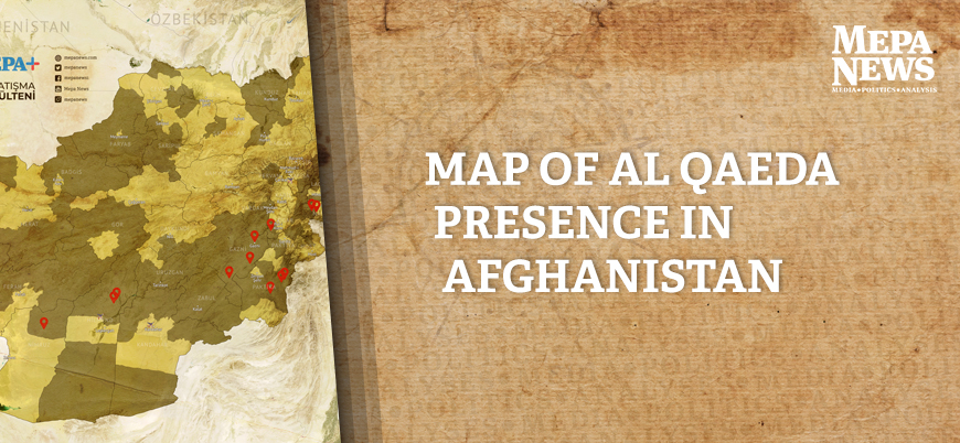 Map of Al Qaeda presence in Afghanistan