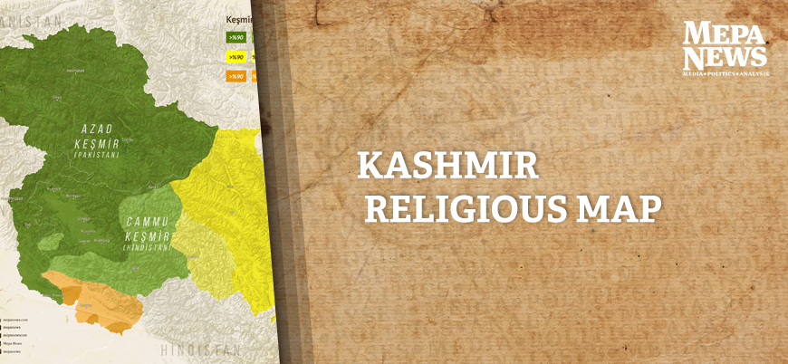 Kashmir religious map
