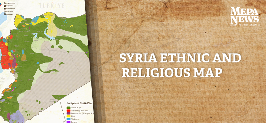 Syria ethnic and religious map