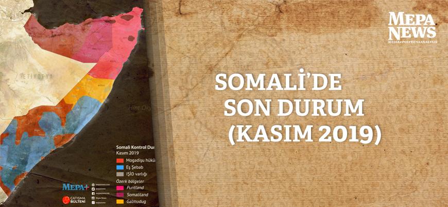 Somali'de son durum haritası (Kasım 2019)