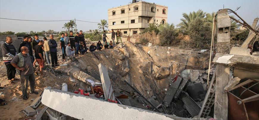 İsrail Gazze'ye yönelik son saldırısında 30 evi yıktı