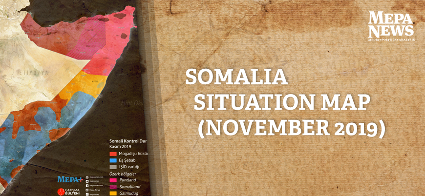 Somalia situation map (November 2019)