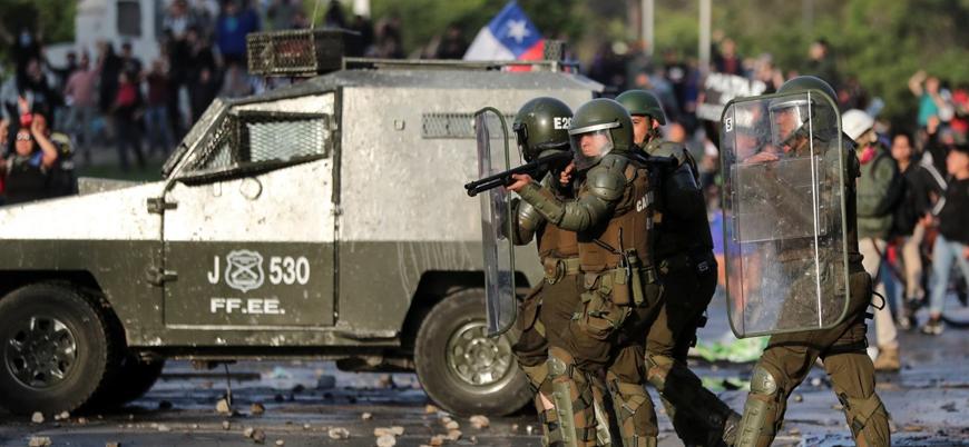 Şili'de polisin müdahalesi sonucu 230 gösterici kör oldu