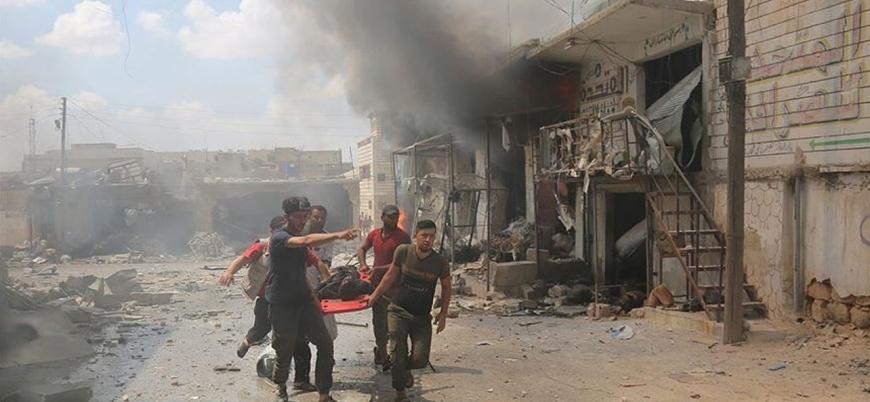 Rus savaş uçakları İdlib'i vurmaya devam ediyor: 4 sivil öldü