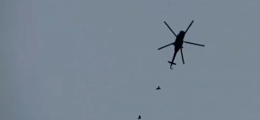 Esed rejimine ait varil bombası yüklü helikopter patladı: 3 pilot öldü