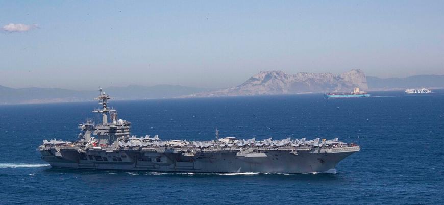 İran ile ilişkileri diken üstündeyken: ABD uçak gemisi Hürmüz Boğazı'ndan geçti